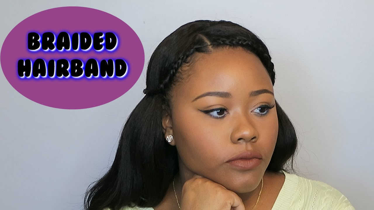 Simple Braided Headband Style Using A Lace Frontal Wig Youtube