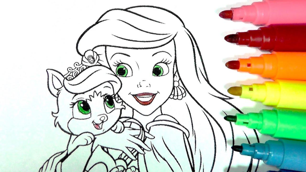 Dibujos Para Colorear Rapunzel: ROTULADORES MÁGICOS DE PRINCESAS DISNEY CON SUS MASCOTAS