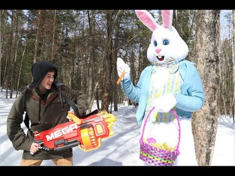 Nerf War: Easter Bunny Chase