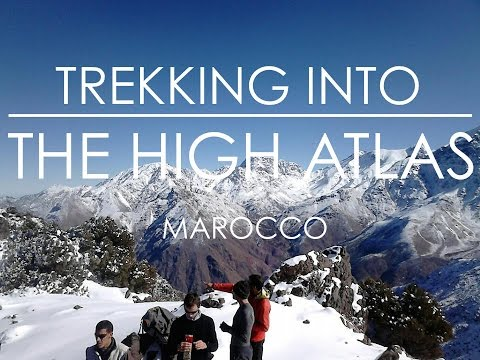 Marocco. Trekking High Atlas Mountains.