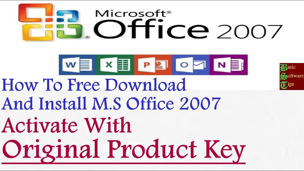 get office 2007 product key