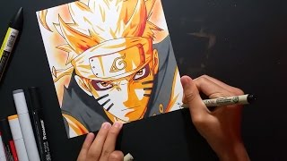 NARUTO BIJUU MODE! | ZainArtz | Speed Drawing |