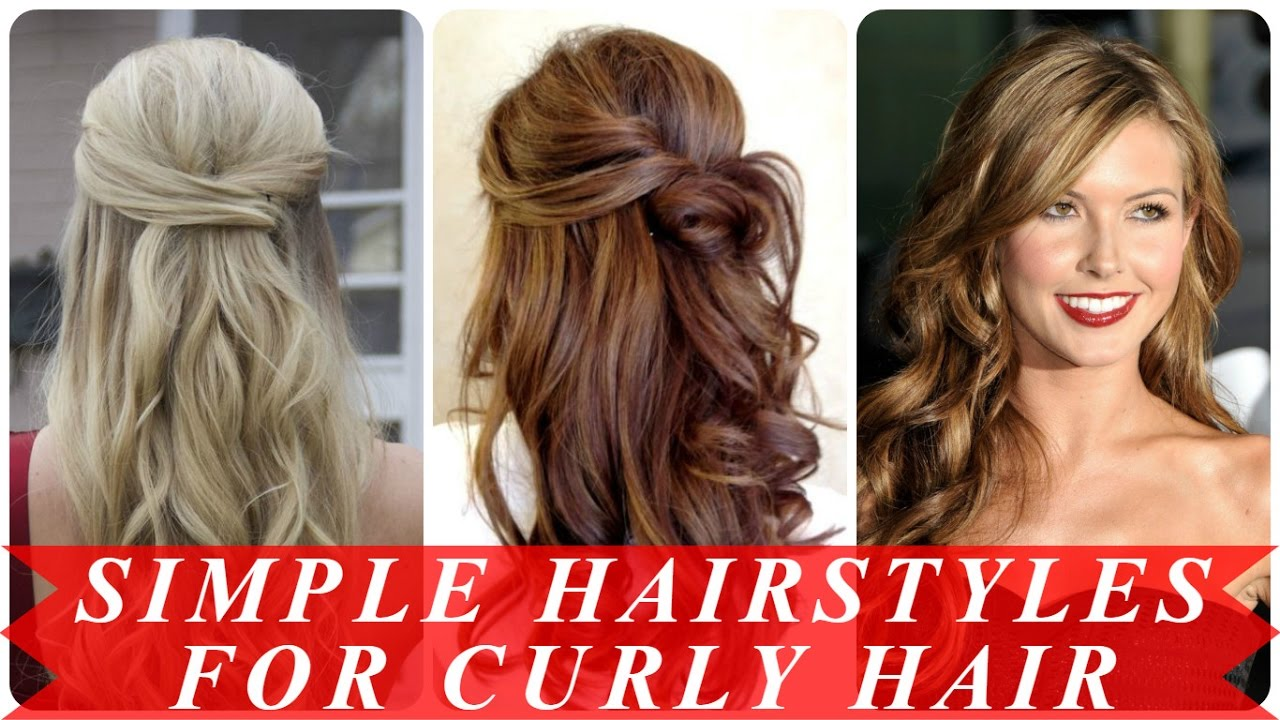 Simple Prom Hairstyles For Curly Hair