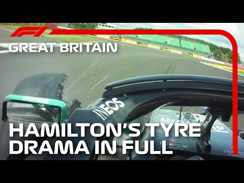 Lewis Hamilton's Tyre Drama In Full, With Radio | 2020 British Grand Prix