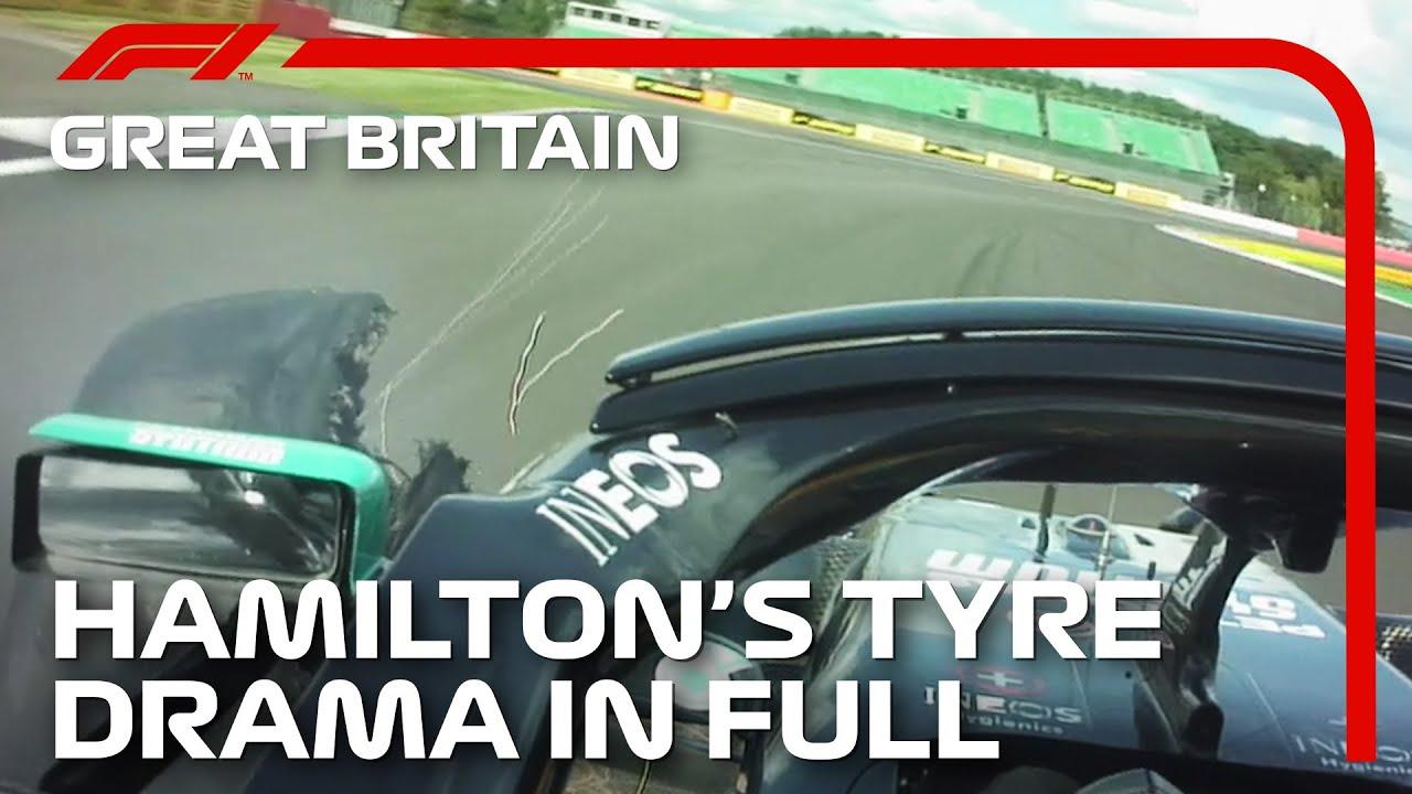 Lewis Hamilton's Tyre Drama In Full: 2020 British Grand Prix
