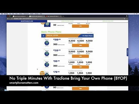 No Triple Minutes With Tracfone Bring Your Own Phone (BYOP) - YouTube