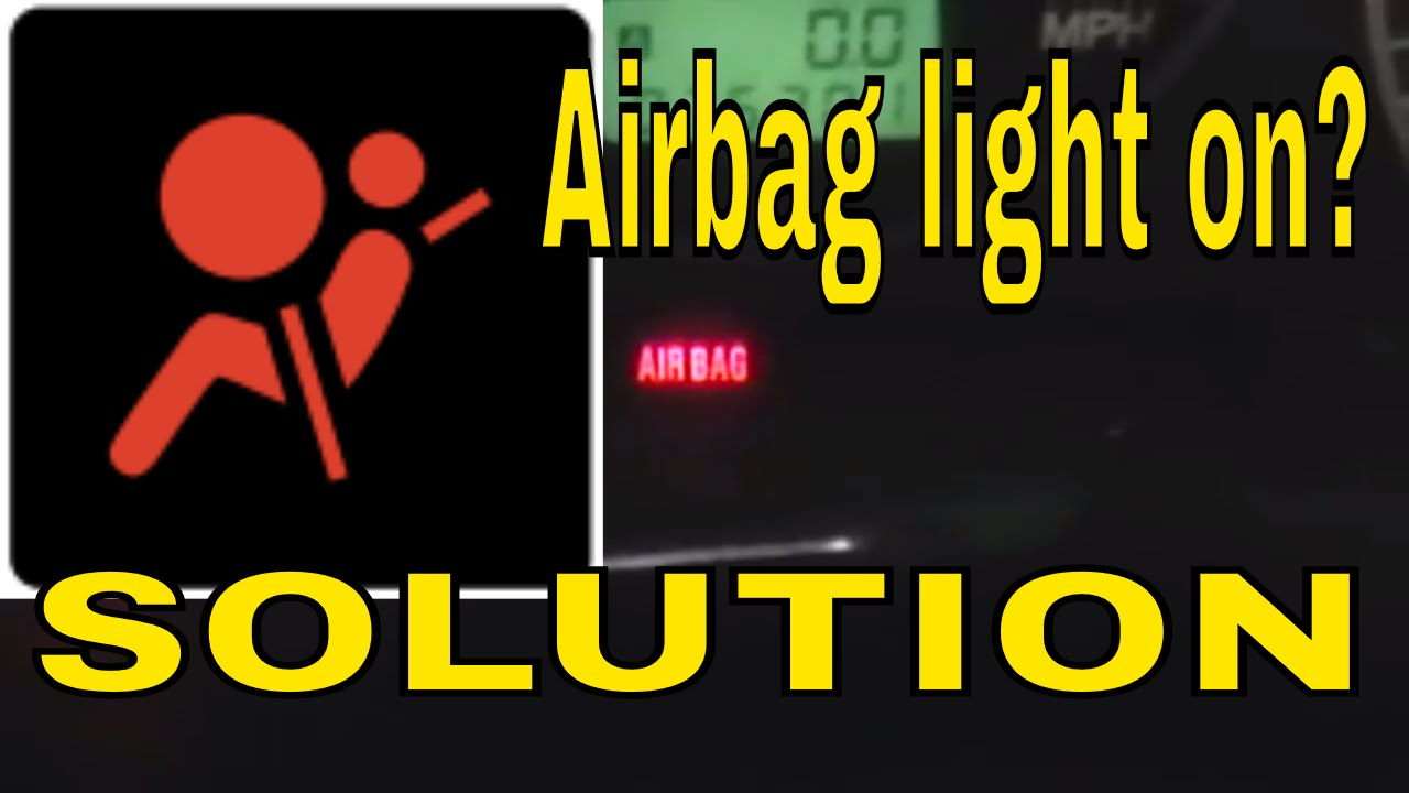 how to reset clear the airbag air bag control module light on subaru turn off light  YouTube