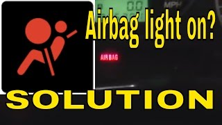 how to reset clear the airbag air bag control module light on subaru turn off light