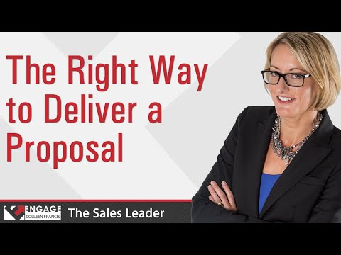 Sales Tip - The Right Way to Deliver a Proposal