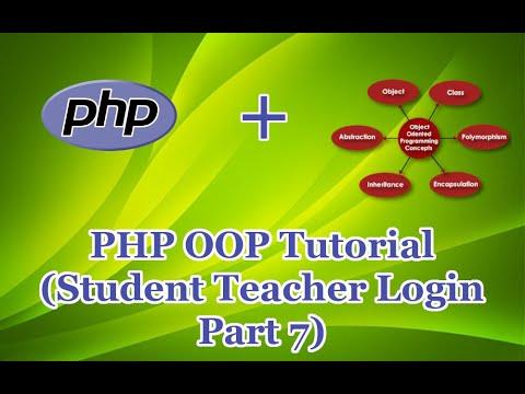 PHP OOP Tutorial  (Student Teacher Login Part 7) thumbnail