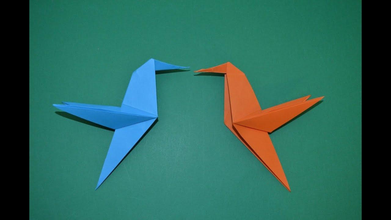 Como hacer un colibri de papel animales de papel youtube - Como hacer un estor enrollable paso a paso ...