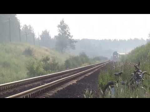 Поезд 141 Москва - Льгов на перегоне Курбакинская - Мих.Рудник