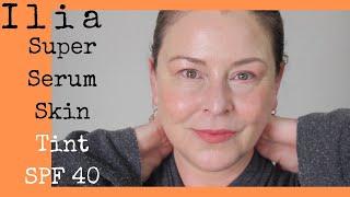 Ilia Super Serum Skin Tint + Viseart Moisture Boost Lip Shine Wear test & review for Mature Skin screenshot 5