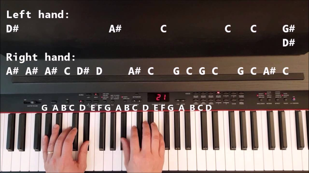 How To Play Titanium On Piano Youtube