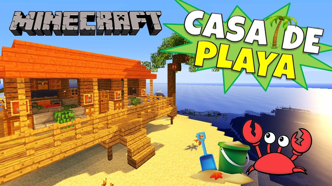 Minecraft como hacer una casa de playa beach house for Como modernizar una casa