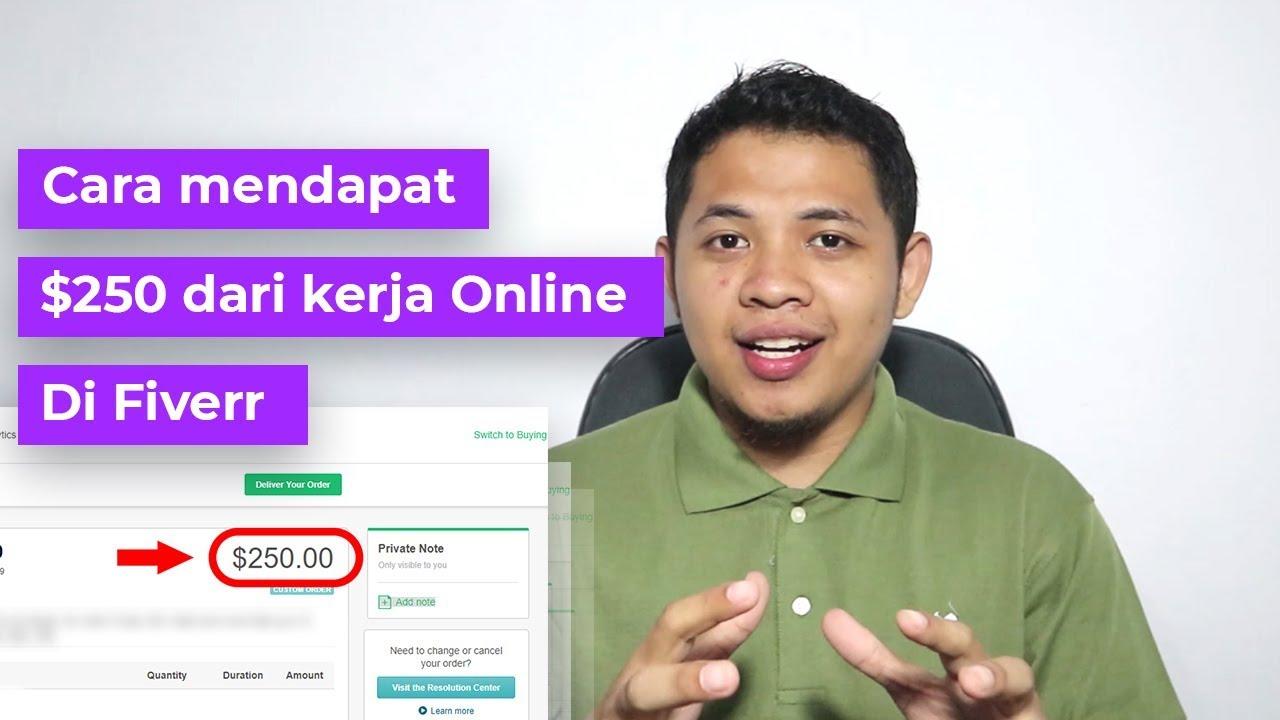 Tips Freelancer 2 Cara Mendapat Order Senilai Ratusan Dollar Dari Kerja Online Di Fiverr Youtube