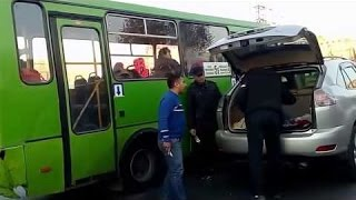 ДРАКА ! АВТОБУС ЛЕКСУС И НОЖ! FIGHT ! BUS, A LEXUS AND A KNIFE!