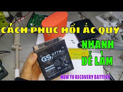 Cách Phục Hồi Ắc Quy SIÊU NHANH VÀ DỄ LÀM- HOW TO Recovery Battery - Zalo: 0947033995