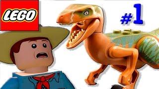 Мультик игра динозавров Парк юрского периода [1] Прохождение мультфильм про динозавров для детей