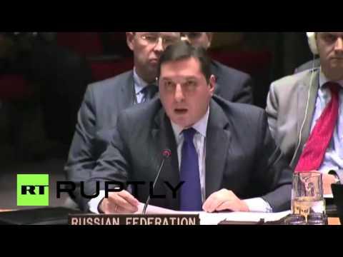 UN: Russian UN ambassador denies reports that air strikes hit Sarmin hospital in Syria