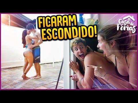 ESPIONAMOS O CASAL BEIJANDO ESCONDIDO!! - CASA DE FÉRIAS #16 [ REZENDE EVIL ]