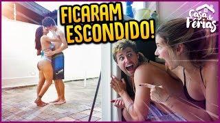 ESPIONAMOS O CASAL BEIJANDO ESCONDIDO!! - CASA DE FERIAS #16 [ REZENDE EVIL ]