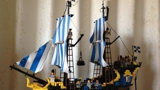 Lego Vintage Pirate Custom Ship 6274 / 6285 / 10040 Caribbean Clipper Black Seas Baraccuda