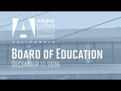 AUSD Board of Education - Dec. 11, 2018
