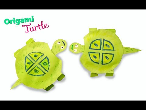 how-to-make-origami-turtle-|-crafts-for-kids-to-do-at-home-|-moving-turtle-paper-craft