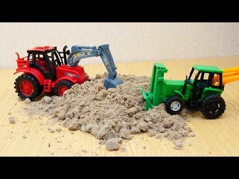 Машинки мультфильм - Мир машинок - 99 серия:  Трактор, экскаватор, бульдозер. Мультик для детей.