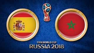 "Spanien - Marokko (25. Juni) | World Cup 2018 [Spiel 36] ""FIFA 18"""