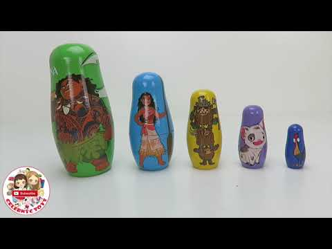 DISNEY MOANA Stacking Cups Toy Surprises Blind Box  | Oceania Maui HeyHey Pua Kakamora