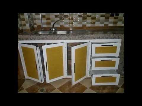 placards et sous table de cuisines en aluminium - Photo Cuisine En Aluminium Au Maroc