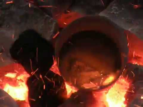 Improvised Foundry, Burning Magnesium, Testing Blower And Crucible.