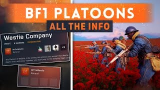 ► PLATOONS! Everything You Need To Know - Battlefield 1 (New Feature)