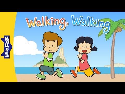 Walking, Walking | Learning Songs | Little Fox | Animated Songs For Kids