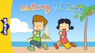 Walking, Walking | Nursery Rhymes | Action | Little Fox | Animated Songs for Kids
