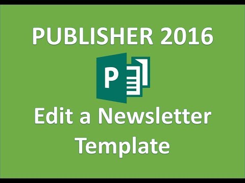 Publisher 2016 Newsletter Tutorial How To Make Use Create