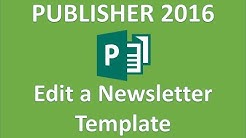 Publisher 2016 - Newsletter Template Design Tutorial - How To Use Microsoft Templates - Create in MS