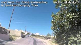 Santorini 2014 - road from Exo Gialos Karterados to Thira (Santorini Camping)