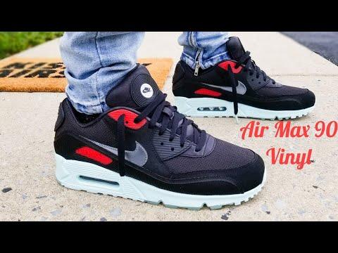 air-max-90-vinyl-unboxing-&-on-feet