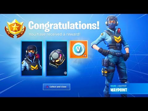 Unlocking *NEW* WAYPOINT SKIN REWARDS In Fortnite..