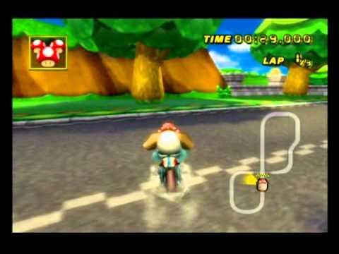 """[MKWii] Mario Circuit (glitch) W3R - 1'17""""098 - 6th Regional By κσω☆Danny☆"""