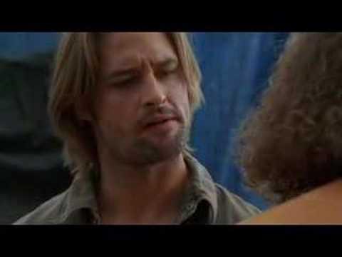 Hurley beats up Sawyer LOST