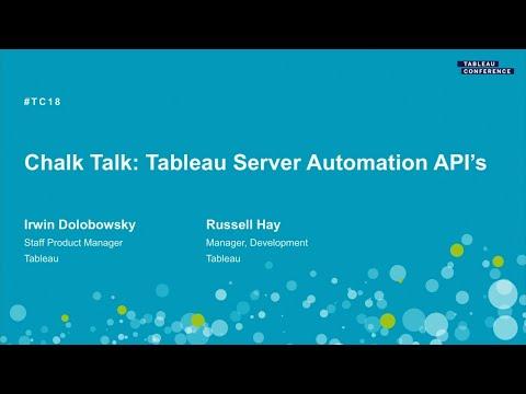 Chalk Talk - Tableau Server Automation API's - YouTube