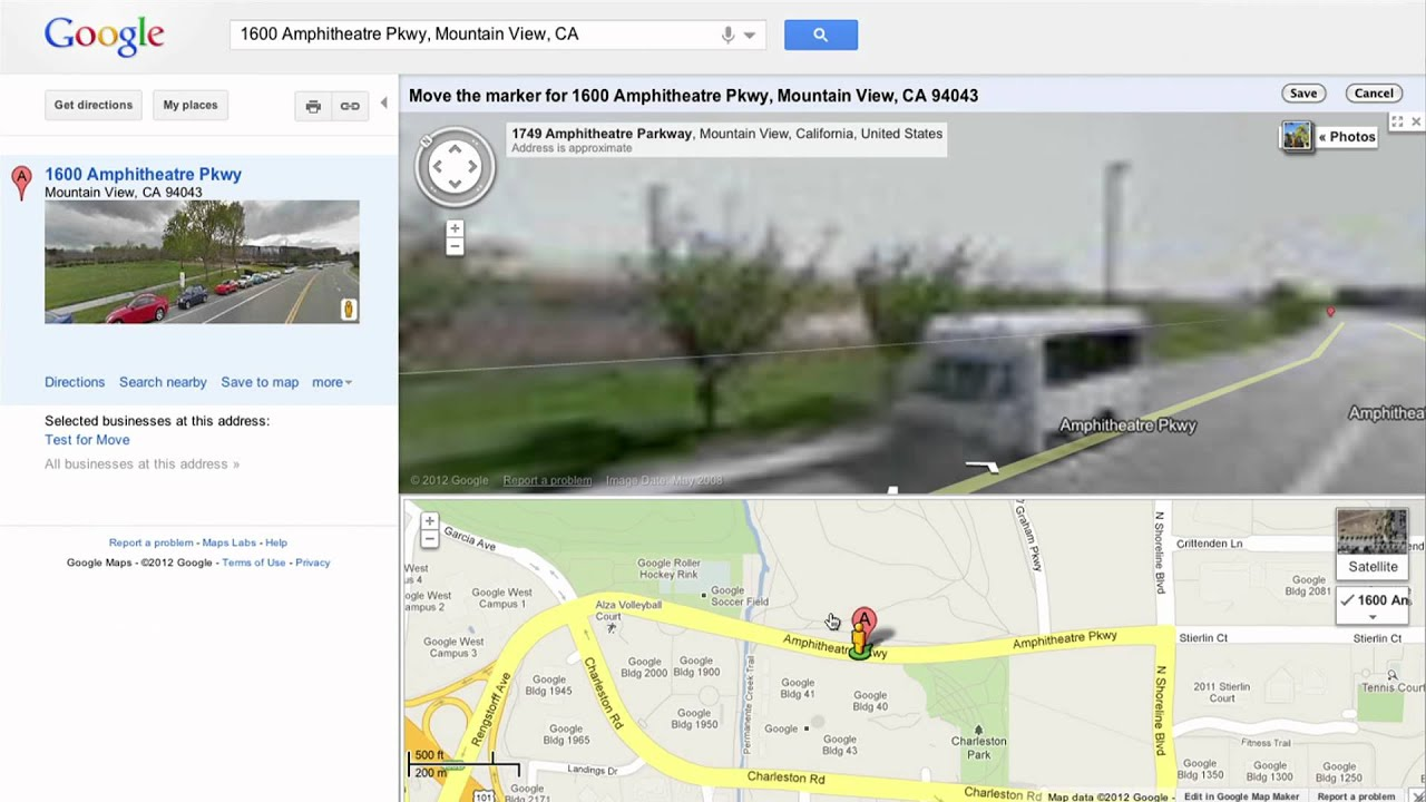 Report a Problem in Google Maps YouTube