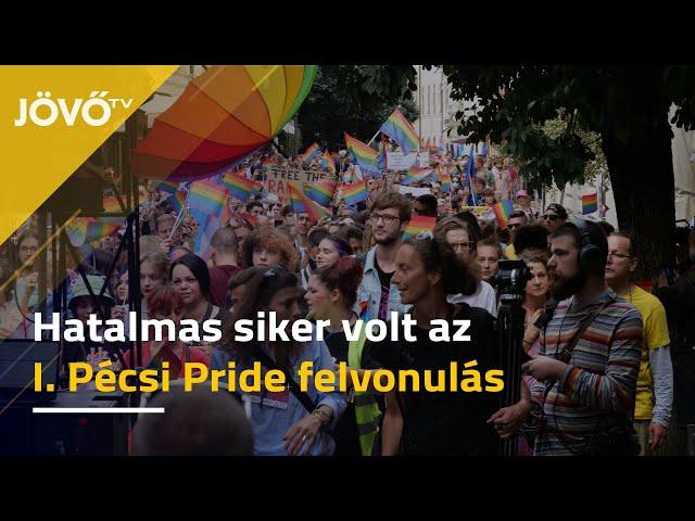 Hatalmas sikert aratott az első vidéki pride felvonulás Pécsett | Jövő TV