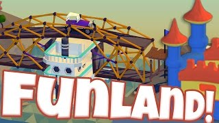 Poly Bridge Gameplay - Welcome To Fun Land! - Game Update (let's Play Poly Bridge)