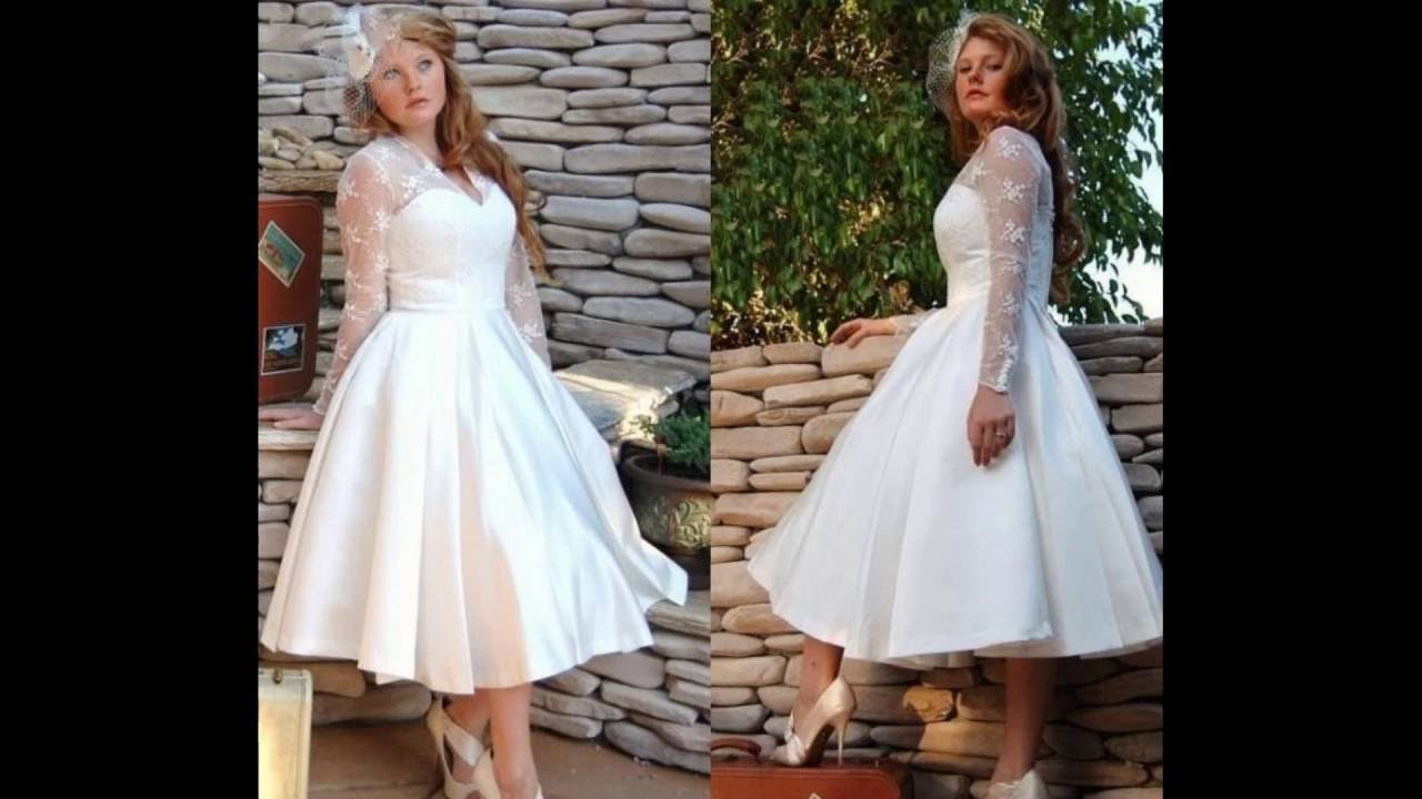 Vintage Inspired Knee-length Wedding Gowns