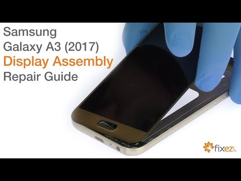 f6c66998a Samsung Galaxy A3 2017 Display Assembly Repair Guide - YouTube